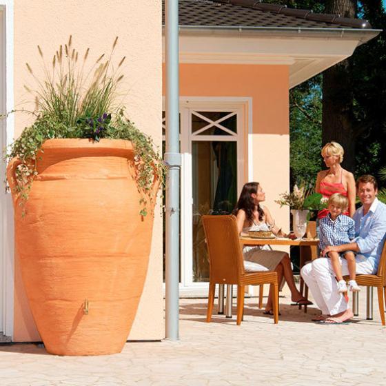 GARANTIA Regenwassertank Amphore 600 Liter, terracotta