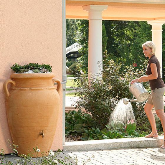 Regenwassertank Wand-Amphore 260 Liter, sandstein