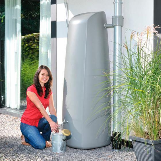 GARANTIA Regenwassertank Elegance 400 Liter, steingrau