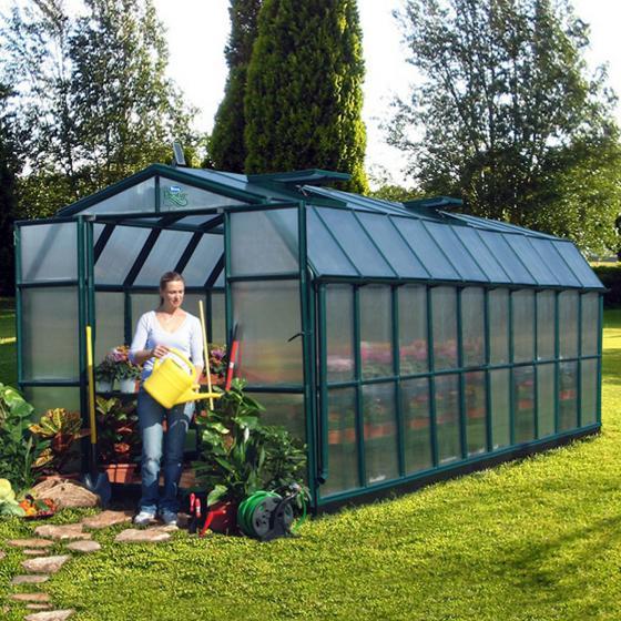Gewächshaus Grand Gardener 410 mit Fundamentrahmen
