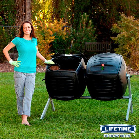 Lifetime Trommelkomposter Kompost-Zwilling, 380 L