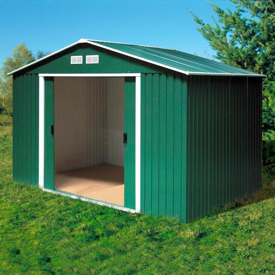 Metallgerätehaus Riverton 6x4 mit Giebeldach, grün