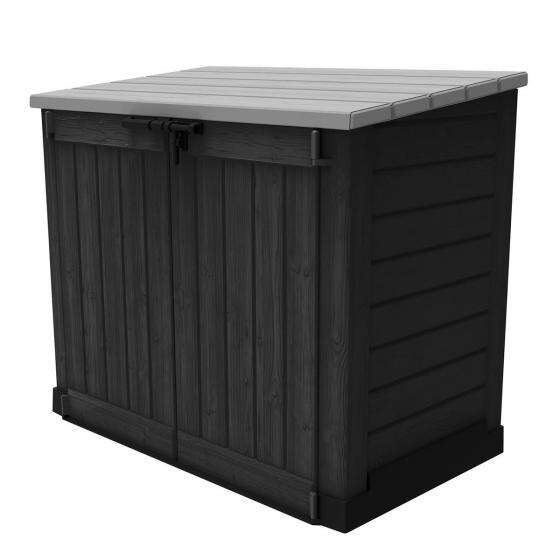 Store It Out MAX Aufbewahrungsbox, graue Holzoptik