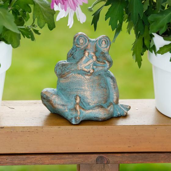 Deko figur frosch fridolin von g rtner p tschke for Frosch figur garten