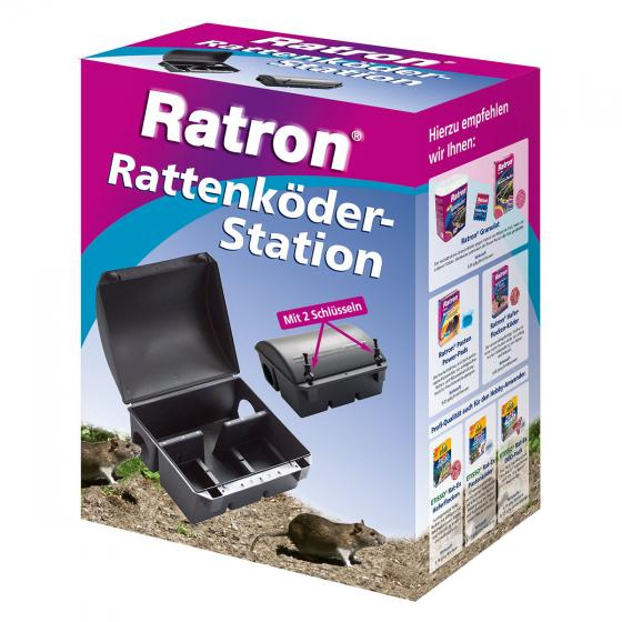 Ratron Rattenköder-Station, 1 Köderbox mit 2 Schlüsseln