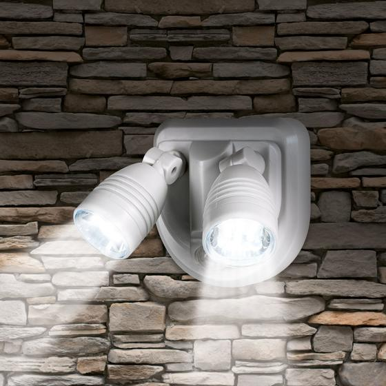 EASYmaxx Security LED-Strahler 2in1 6V weiß