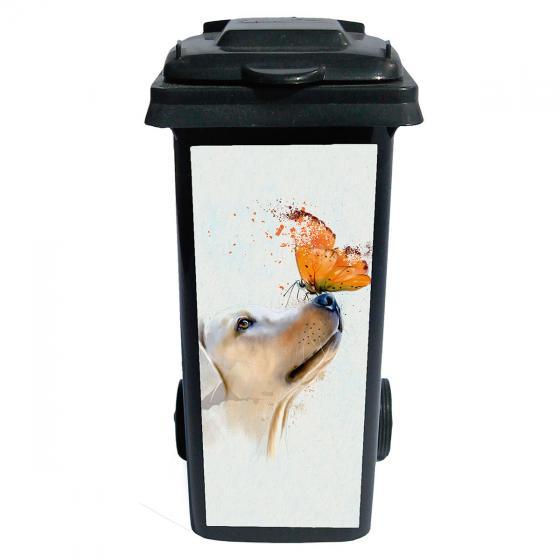 Mülltonnen-Aufkleber Hund