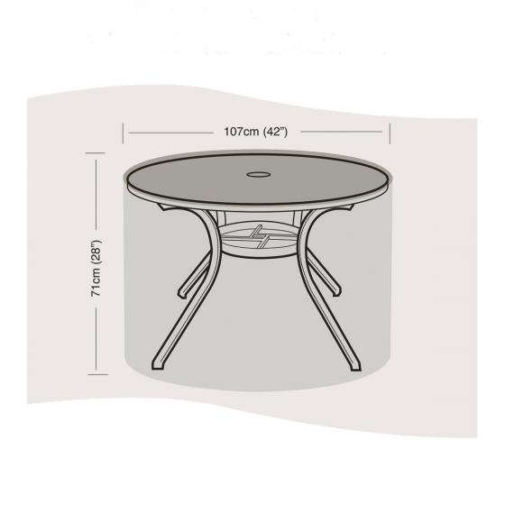 Schutzhülle für Tisch klein, rund