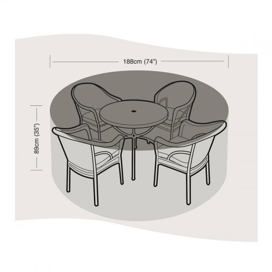 Schutzhülle für Sitzgruppe mittel, rund