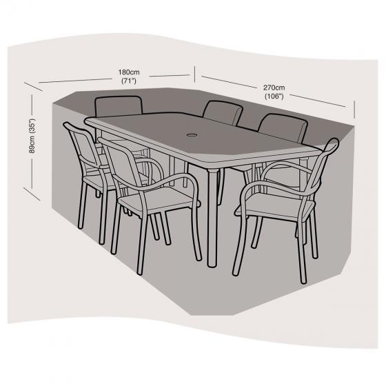 Schutzhülle für Sitzgruppe mittel, rechteckig