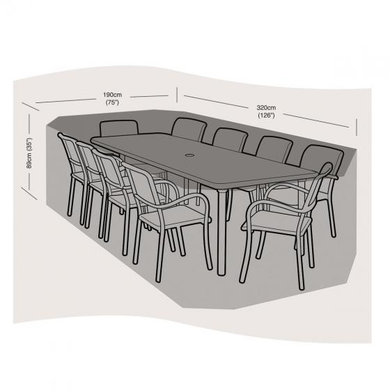Schutzhülle für Sitzgruppen groß, rechteckig