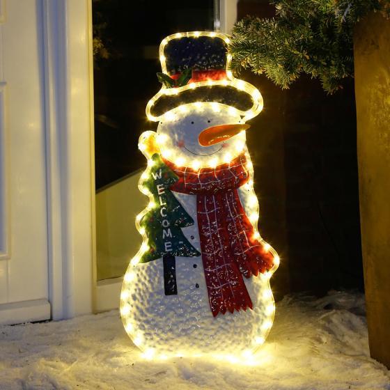 Leuchti der leuchtende LED-Schneemann