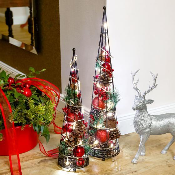 LED-Kegel Weihnachtszauber, groß