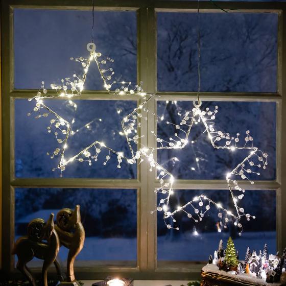 LED-Fensterstern Wintertraum, 2er-Set