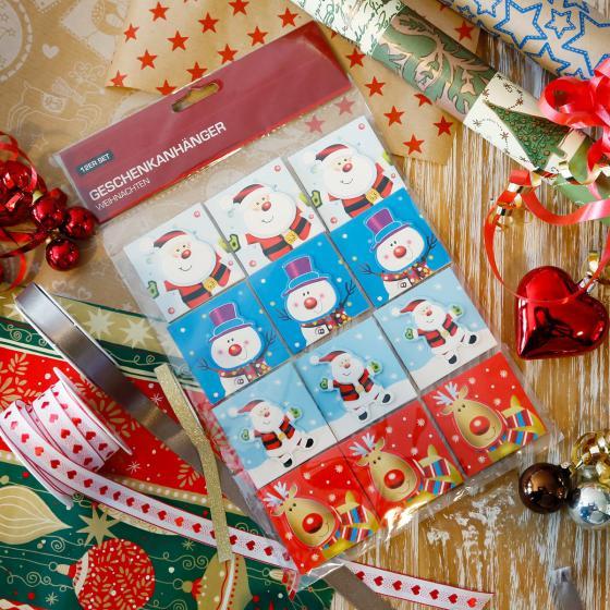 Geschenkanhänger-Karten, 12er-Set