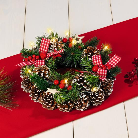 LED-Weihnachtskranz Klassik