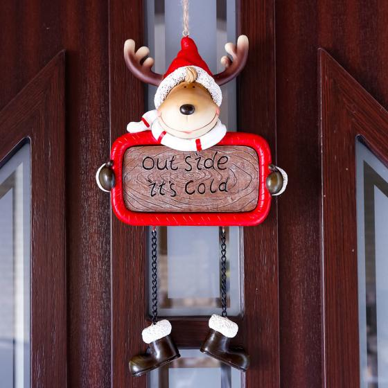 Hängeschild Weihnachtselch Rudolph