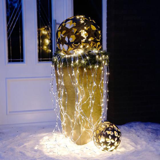 LED-Lichtbündel Silberglanz, groß