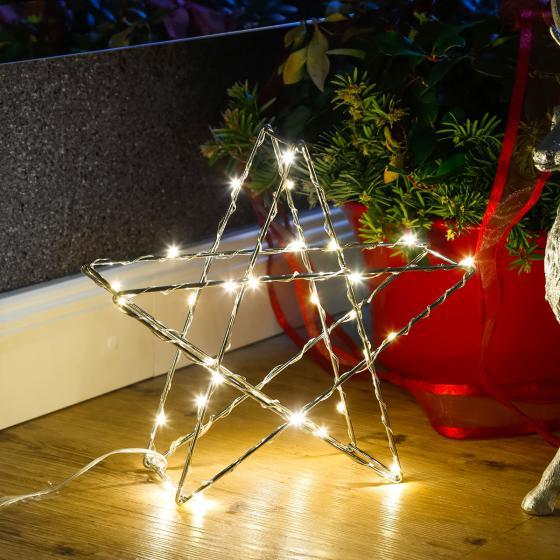 LED-Standleuchte Stern, klein