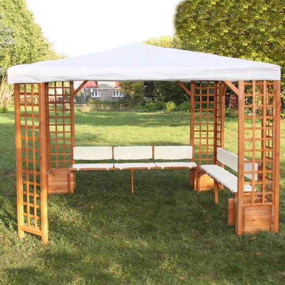 Sitz- und Rückenauflage beige für Pavillon Mindelheim