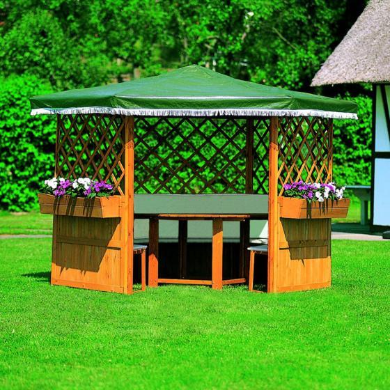 Pavillon Marburg mit Möbeln