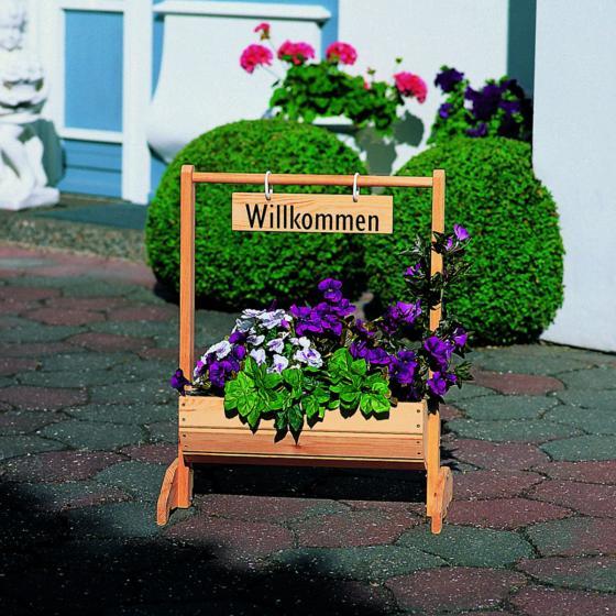 Blumentrog Willkommen klein