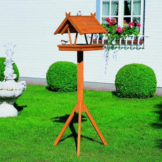 Vogelhaus Rhön mit Fußkreuzständer