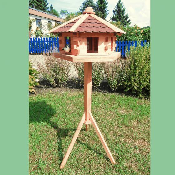 PROMADINO Vogelhaus Knusperhäuschen mit Fußkreuzständer