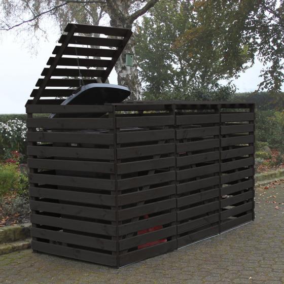 Mülltonnenbox Vario V für 3 Tonnen, anthrazit