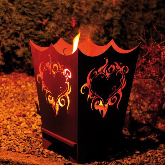 Feuerkorb Flammenherz