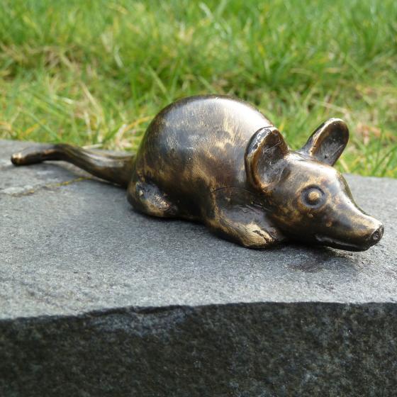 Bronze-Figur Glücksmaus