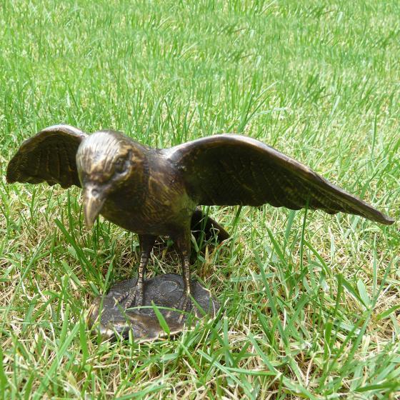 Bronze-Figur Vogel Merlin