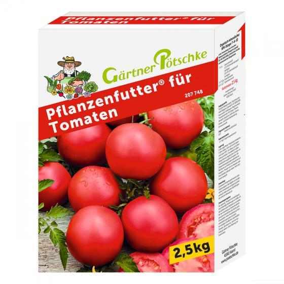 Gärtner Pötschke Pflanzenfutter für Tomaten, 2,5 kg