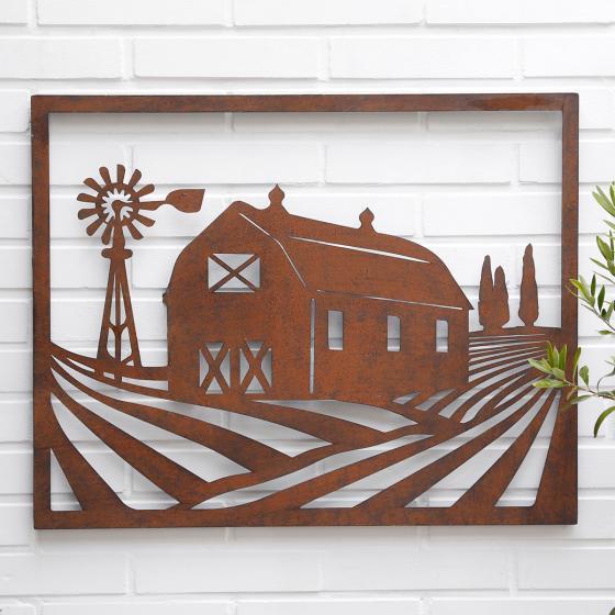 Wandbild Bauernhof