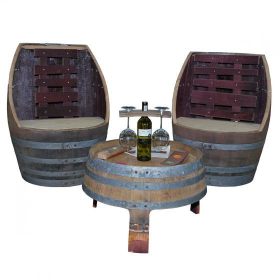 Whiskyfass Sitzgruppe