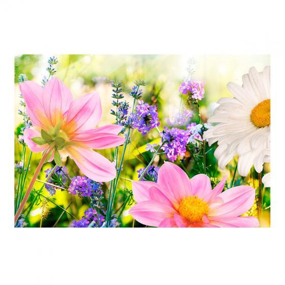 Aluminium-Gartenbild Wildblumen, 90 x 60 cm