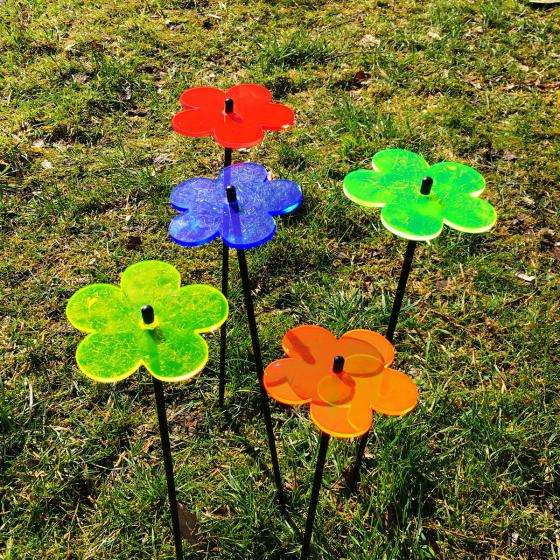 Acryl Sonnenfänger Flower Power, 5er-Set