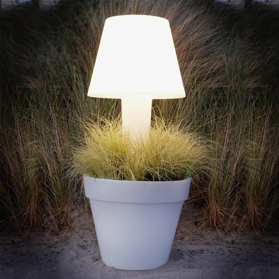LED Pflanzkübel Pure, H 114 x Ø 50cm, weiß