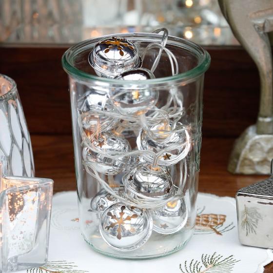 LED-Lichterkette Silberglöckchen