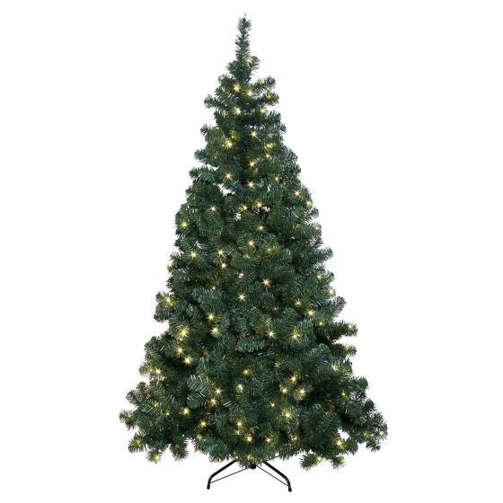 LED-Außen-Weihnachtsbaum Grüne Pracht, 1210x120x120 cm, Kunststoff, grün