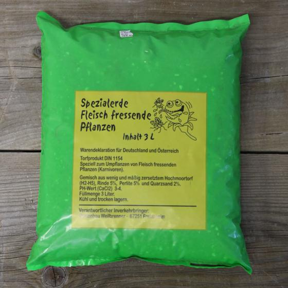 Spezialerde für Fleischfressende Pflanzen, 3 Liter