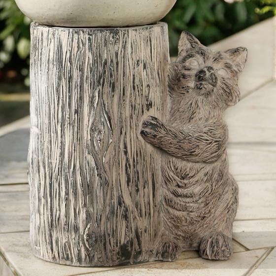 Pflanzenhocker Citty Cat, 44x22x23 cm, Fiberglas, grau