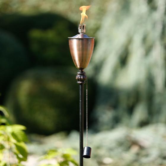 Garten-Ölfackel Lichterloh, 150x12x12 cm, Eisen, kupfer