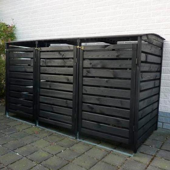 Erweiterung für Mülltonnenbox Vario III, anthrazit