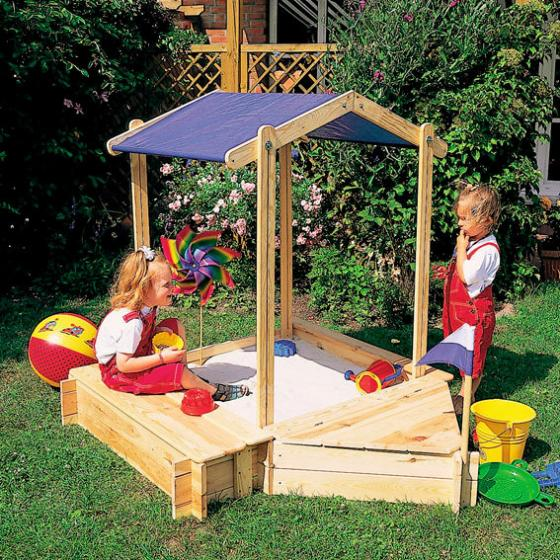 Sandkasten-Set Peter Pan mit Sitz- und Bugbox