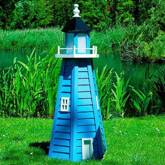 Leuchtturm Norderney klein blau/weiß