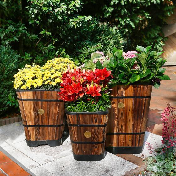 VegTrug Pflanzkübel Brandy, 51x41x41 cm, braun