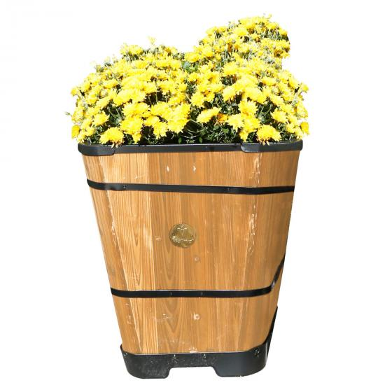 Pflanzkübel Brandy, 51x41x41 cm, natur