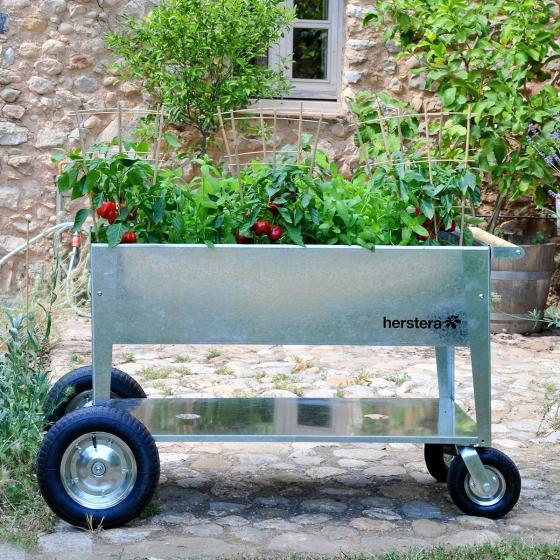 Hochbeet Garden Swivel, silber, 120x60x80 cm