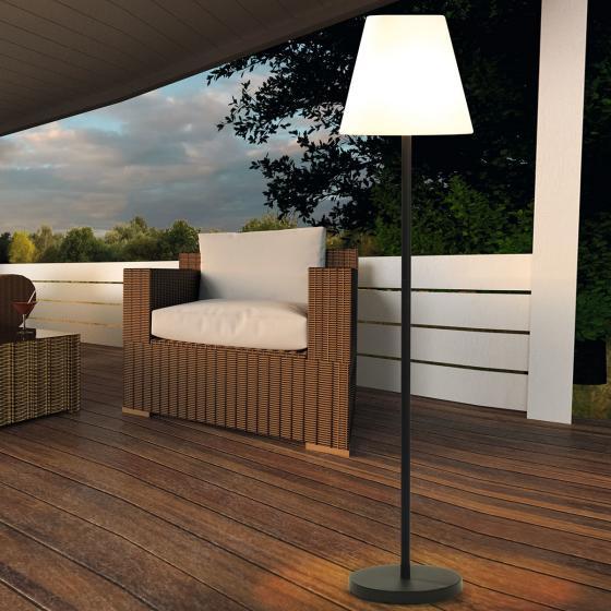 EasyMaxx Solar-Außenstandleuchte, 150x34 cm, schwarz